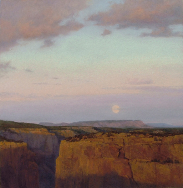 D. LaRue Mahlke, Evening Shift, pastel, 21 x 20.