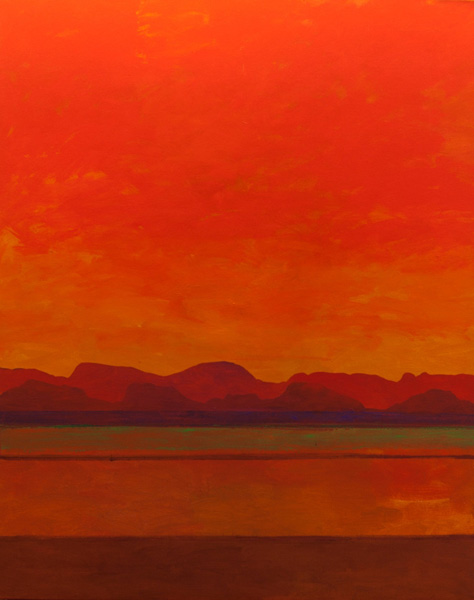 Mark Bowles, Indian Summer, acrylic, 50 x 40.