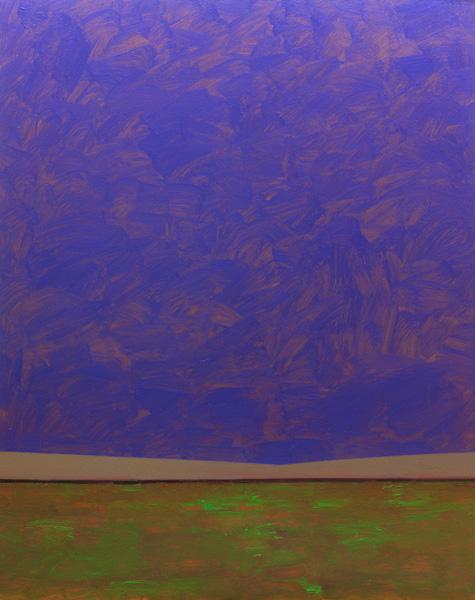 Mark Bowles, Vibrant Sky, acrylic, 50 x 40.