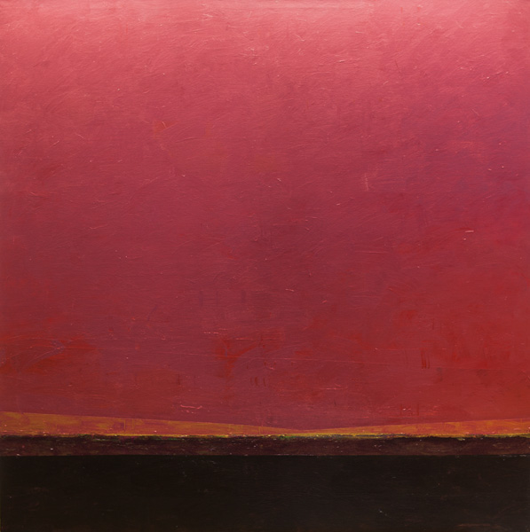 Mark Bowles, Reflective Sky, acrylic, 60 x 60.