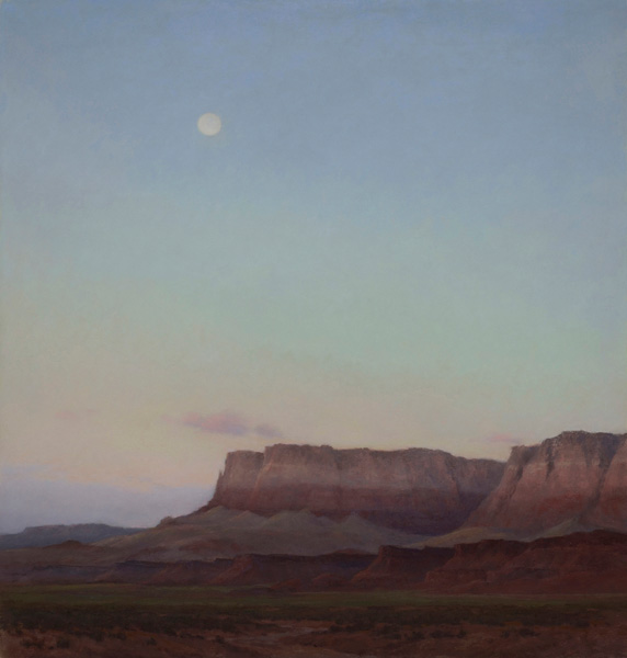 D. LaRue Mahlke, Morning Moon, pastel, 20 x 19.