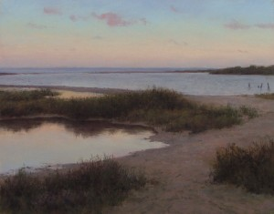 D. LaRue Mahlke, Quiet Inlet, pastel, 11 x 14.