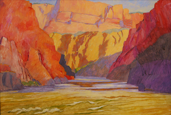 Andy Taylor, Bridge Canyon, oil, 46 x 68.