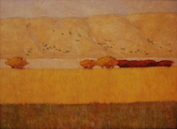 Andy Taylor, Fire in Elk Springs, oil, 33 x 45.