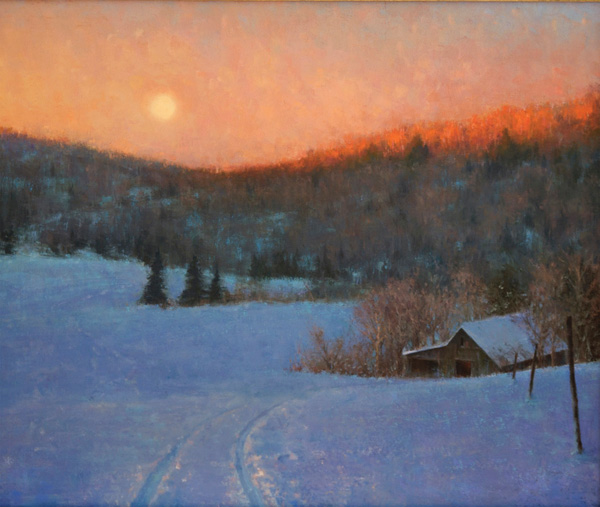 Eleinne Basa, Valley Moonrise, oil, 20 x 24