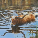 Karen Boylan, Cooling Off, oil, 14 x 18.