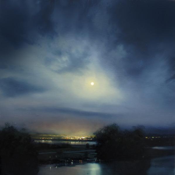 Renato Muccillo, Encroaching Skyline, oil, 11 x 11.