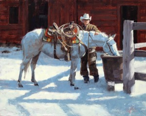 Jim Connelly, First Snow, oil, 16 x 20.