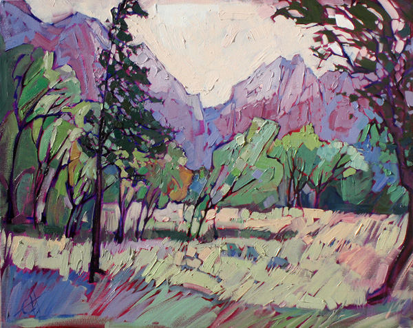 Erin Hanson, Painted Zion, oil, 30 x 24.