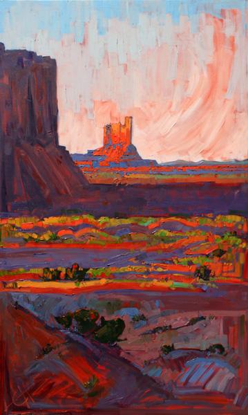 Erin Hanson, Utah's Monument, oil, 60 x 36.