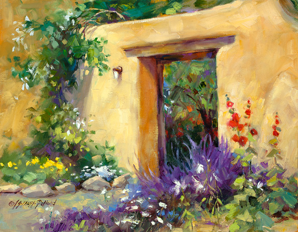 Julie Gilbert Pollard, Santa Fe Floral, oil, 11 x 14.