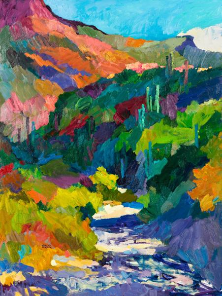 Larisa Aukon, Meditation Break, oil, 40 x 30.