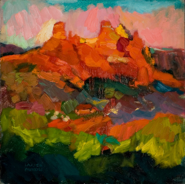 Larisa Aukon, When Evening Comes, oil, 12 x 12.
