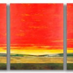 Mark Bowles, Sunset, acrylic, 50 x 120.