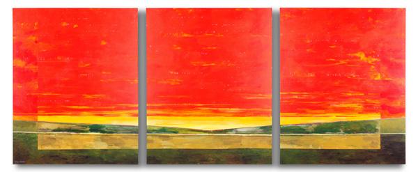 Mark Bowles, Sunset, acrylic, 50 x 120.