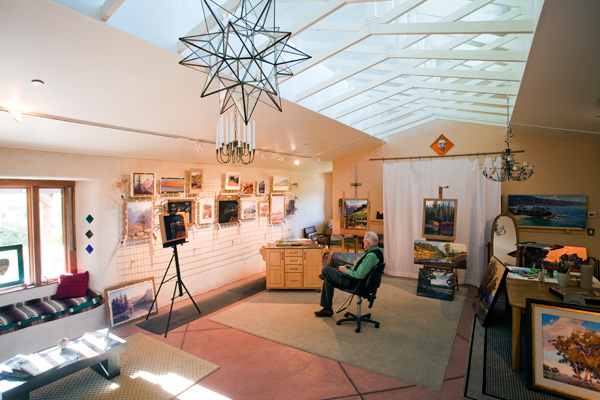 Clark Mitchell at his studio in Cotati, CA