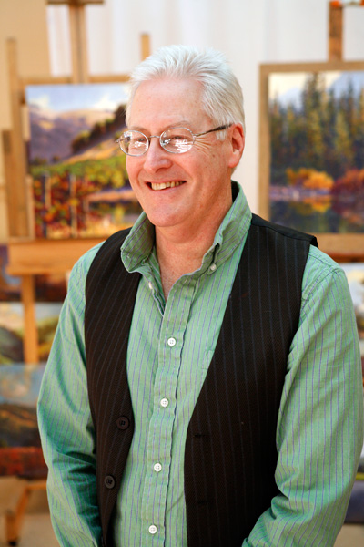 Clark Mitchell at his studio in Cotati, CA