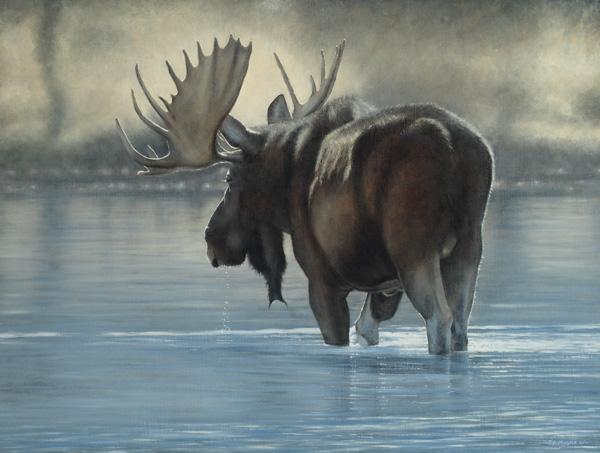Timothy David Mayhew, Snake River Crossing, oil, 24 x 32.