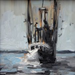 Kevin LePrince, Returning to Shem Creek, oil, 6 x 6.