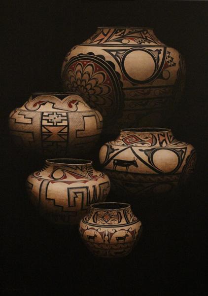 Rock Newcomb, Colors of Zuni, acrylic, 50 x 36.