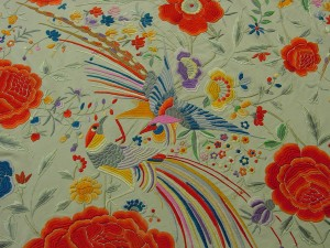 Shawl (detail), Spain, late 19th/early 20th century, silk.