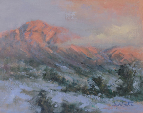 Marla Smith, Granite Mt. Glow, oil, 11 x 14.