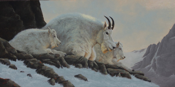 Greg Wilson, Waiting for the Morning Sun, oil, 12 x 24.