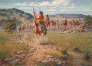 Roy Andersen, Comanche Spring, oil, 26 x 36.