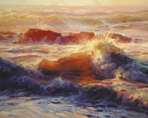 Steve Henderson, Opalescent Sea, oil, 24 x 30.
