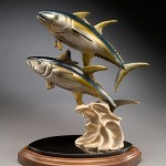 Kim Shaklee, The Daily Double—Yellow Fin Tuna, bronze, 20 x 10 x 15.