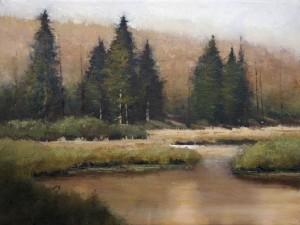 Shanna Kunz, Stillwater Spring, oil, 12 x 16.