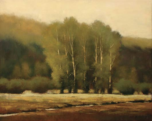 Shanna Kunz, Swan Valley Song, oil, 24 x 30.