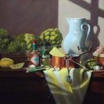 Claudia Seymour | Artichauts a la Bernaise, pastel, 12 x 20.