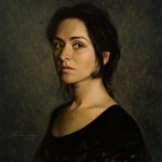 Alan Dingman, Woman in Black, oil, 24 x 20.