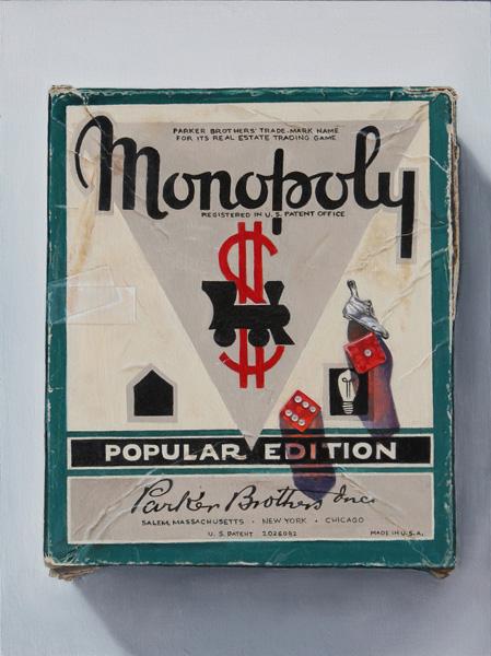 K. Henderson, Monopoly, oil, 12 x 9.