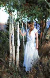 Michelle Dunaway | Among The Aspens, oil, 40 x 26.