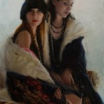 Michelle Dunaway | Katie and Jenni—The Daughters of Jane Seymour, oil, 30 x 20.