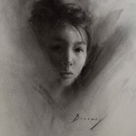 Michelle Dunaway | Study of a Young Girl, charcoal, 16 x 20.