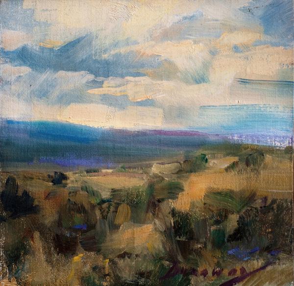 Michelle Dunaway | Santa Fe Horizon, oil, 6 x 6.