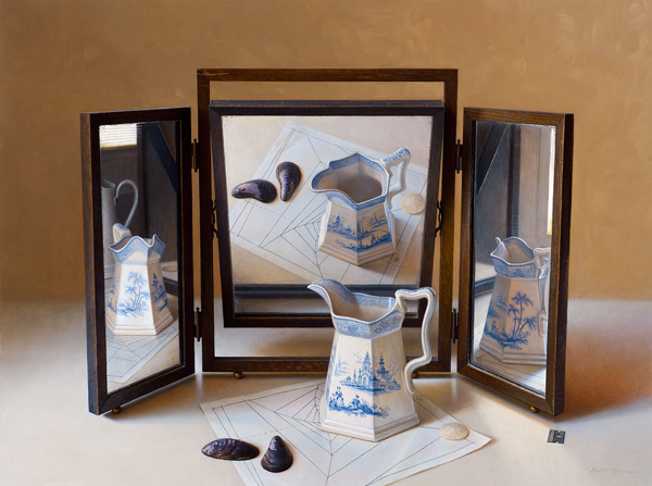 Scott Fraser | Applied Reflections, oil, 28 x 37.