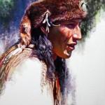 Martin Grelle, Bear Claw, acrylic, 23 x 15.