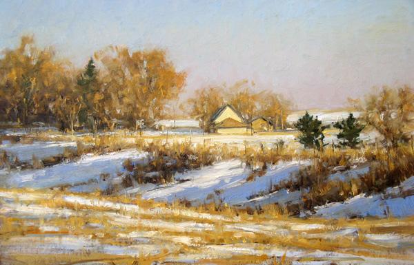 Carol Jenkins, Altona Grange, oil, 16 x 24.