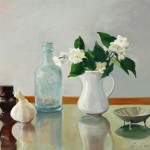 Claire Evans, Still Life with Mock Orange, oil, 16 x 20.
