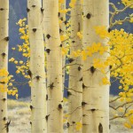 Cyd Springer, Golden Leaves Clinging, oil, 30 x 24.