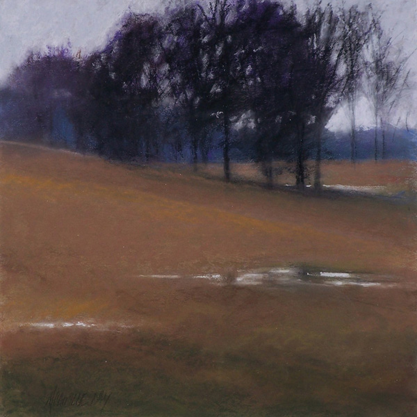 Camille Day, Dream Pasture, pastel, 12 x 12.