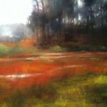 Camille Day, Rain Field, pastel, 9 x 12.