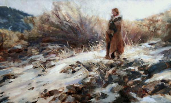 Michelle Dunaway | A New Beginning, oil, 16 x 26.