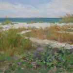 Marilyn Flinn, Grassy Dunes, oil, 12 x 16.