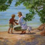 Marilyn Flinn, How to Bait the Hook, oil, 20 x 24.
