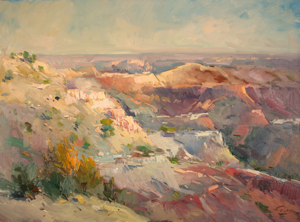 Guido Frick, Serenity in the Valley, oil, 30 x 40.